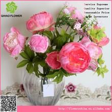 decoración de hogar directa de china de peonía arreglos de flores artificiales para hoteles