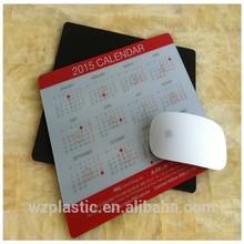 Customized durable PVC 2015 calendar Mouse mat