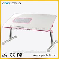Foldable laptop cooling desk with cooling fan standing, hot sale lap desk