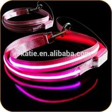 Bulk Pet Supplies Best Selling Pink Glowing in the Dark Dog Leash
