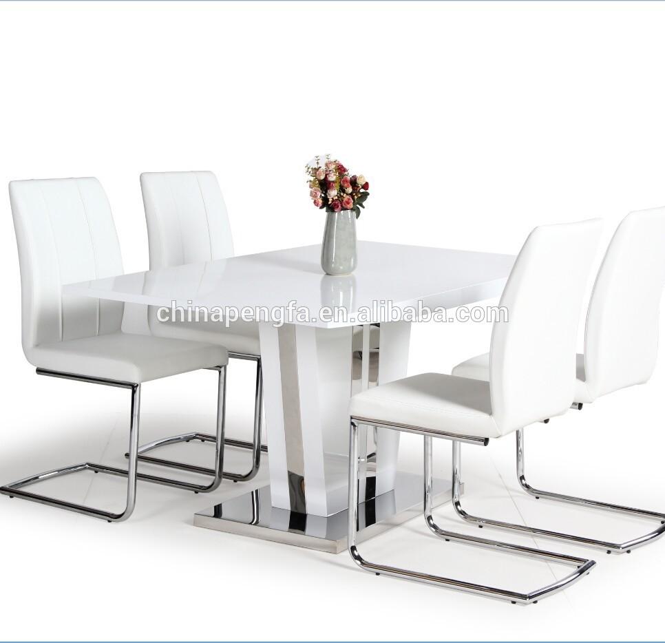 Witte beste de verkoop moderne hoogglans eettafel met 4 stoelen houten tafels product id - Moderne stoelen ...