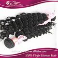 Virgen del pelo fabricante 100% peruano de la virgen de la onda profunda del pelo sin procesar del pelo