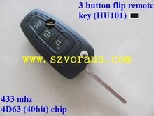 Ford Ranger 3 button flip remote key (433mhz,4D63 chip)