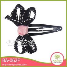 Black decoration bowknot pvc hair ornament