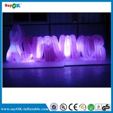 2014 Colorful led lighted Attractive inflatbale model advertising giant inflatable letters