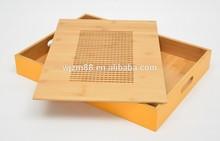 2015 fashion serving tray/colorful tray/bamboo tray