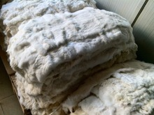 Natural White Top Grade Real Rabbit Fur Pelt Skin For Taxidermy Animal Soft Fur Arts