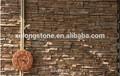 Cara partida blanco cuarcita cultura piedra, Ledgestone decoración para el hogar Tv pared Set Backgorund Caldding