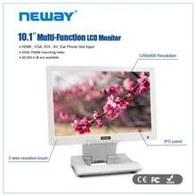 With Desktop Folding bracket 10.1 Inch IPS Screen Monitor LCD Wall Mount