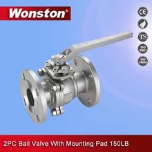 2-pc stainless steel full port ball valve