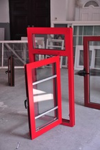 Chinese red color Europe type casement window