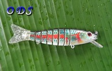 Supply different kinds of fishing lure 8 sections hard lure jointed bait with lip
