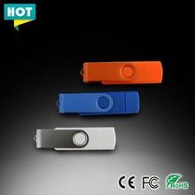 Wholesale OTG USB pen drive Colourful swivel USB Flash Drive 8GB