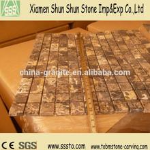 Polished Marble Mosaic Rhombus Mosaic Floor Tile