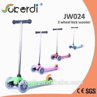 120/80mm 3 wheel plug in aluminum T bar kick kick lintex scooter