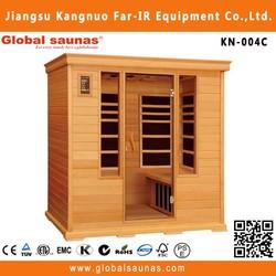 Far infrared wooden adult sauna massage rooms with sauna heater