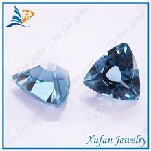 wuzhou triangle shape blue synthetic spinel sapphire