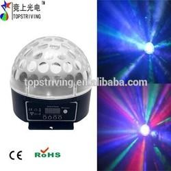Super DMX Sound active three color LED crystal magic ball light,SUPER LED DOME PLUS dj disco club Christmas new year bright LED
