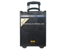 dual 8 inch 75watt with USB SD FM MIC remove control battery outdoor waterproof speaker