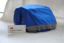 100% polyester reflective helmet cover/blue waterproof cover/yellow rainproof reflective cover made with 3M Scotchlite