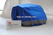 100% polyester reflective helmet cover/blue waterproof cover/yellow rainproof reflective cover made with 3M Scotchlite