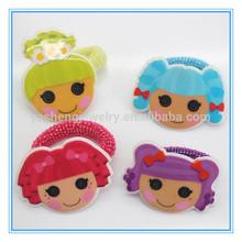 Girls' mini elastic hair band , sweet girl print PVC fastival hair scruchies for kids