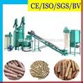 duro de la biomasa de aserrín de pellets de madera que hace la línea de la máquina para la venta
