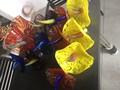 morden colorfuls vidro da arte da parede da placa