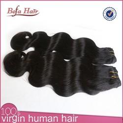 100% unprocessed raw vrigin brazilian body wave weave false hair