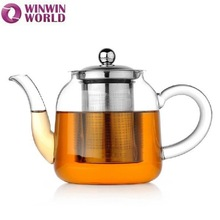 Hot Selling Fire Resistant Pyrex Clear Glass Teapot Tea Set With Heater