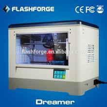 3d printer business dual extruder desktop3D printer Flashforge Dreamer rapid prototype