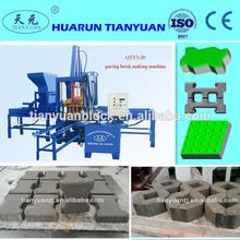 hydraulic cement color paver block making machine QTY3-15 interlocking block machine offers