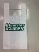 Blocked Plastic Vest Carrier/T-shirt Handle Bags