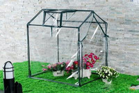 PVC/ PE covered metal frame mini garden greenhouse , garden used greenhouses for sale