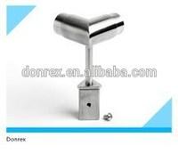 inox handrail bracket support 90 degree tube and pipe
