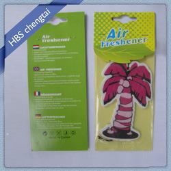 Funny designs hanging paper solid car air freshener