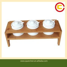 Decorative Bamboo Condiment Rack Spice Kitchen Rack