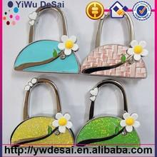 Promotion cheap metal zinc alloy hook bag hanger