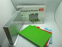 hot selling multifunctional 4pcs Plastic cutting board food grade plastic material