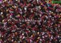 Ingrosso 2015 100% ployester oro alla moda tessuto del ricamo del sequin