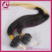 Cheap micro ring loop hair extensions 1g micro bead brazilian hair extension double bead brazilian micro ring hair extensio