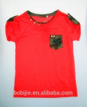 2014 children boys cotton fashon short sleeve V-neck T-shirt
