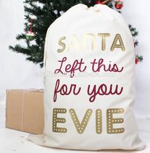2015 new year cheap christmas santa sack drawstring shopping tote gift bag