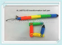 2014 new design promotional colorfor transformation ballpen