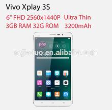 """Vivo Xplay 3S Quad-core Snapdragon 800 CPU 2.3GHz 3G RAM 32G ROM 6.0"""" 2560X1440 13MP NFC 3G WCDMA 4G LTE smartphon"""