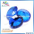 las facetas gemas venta al por mayor del milenio corte nano azul de vidrio de cristal de piedra
