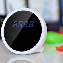 2014 new H.264 wide angle 720P HD P2P mini wifi hidden camera clock support TF card iPhone/Android smartphone motion detection