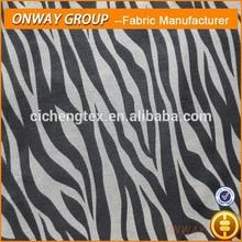 new 97%cotton3% stretch high fashion animal print ladies pants fabric cotton stretch twill fabric