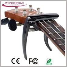 The Original Built of Zinc Alloy Gun Metal Guitar Capo 6 String Guitars, Ukulele, Banjo and Mandolin