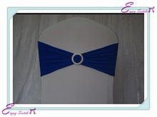 YHB#05 spandex lycra band buckle polyester banquet wedding wholesale cheap chair cover buckle band sash